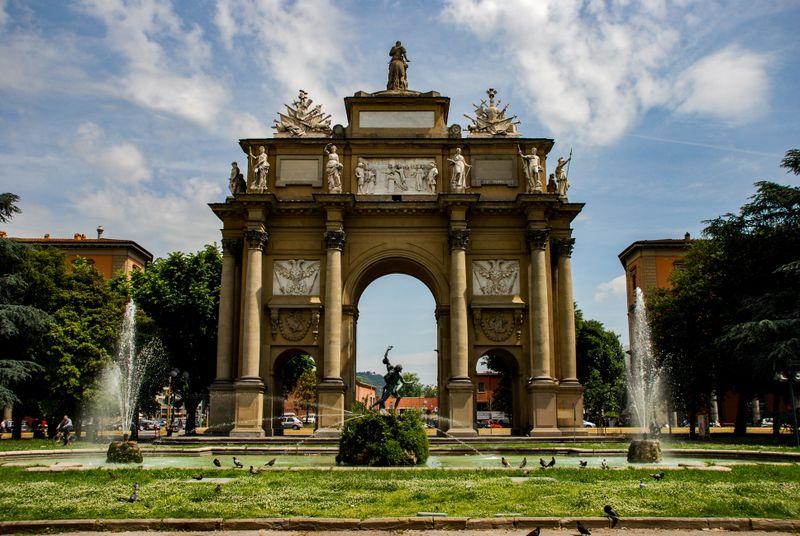 An arch in Piazza della Liberta