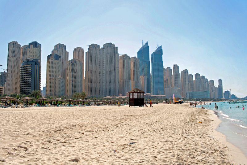 The Jumeirah Beach in Dubai.