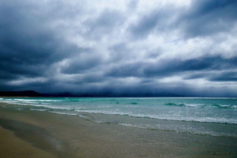 Cloudy skies at Kapowairua or Spirits Bay