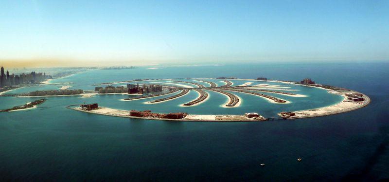 The Palm Jumeirah in Dubai.