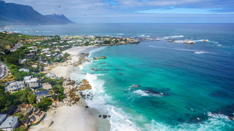 Looking down on beautiful Clifton Beach