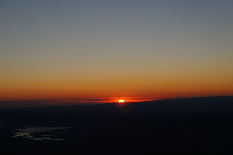 Watching the sunrise from Mount Nemrut over the Euphrates River