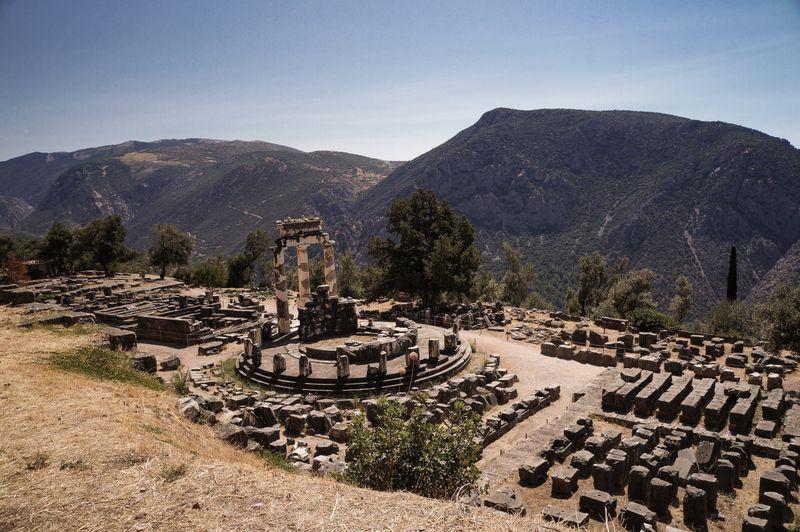The Temple of Athena Pronaia at Delphi