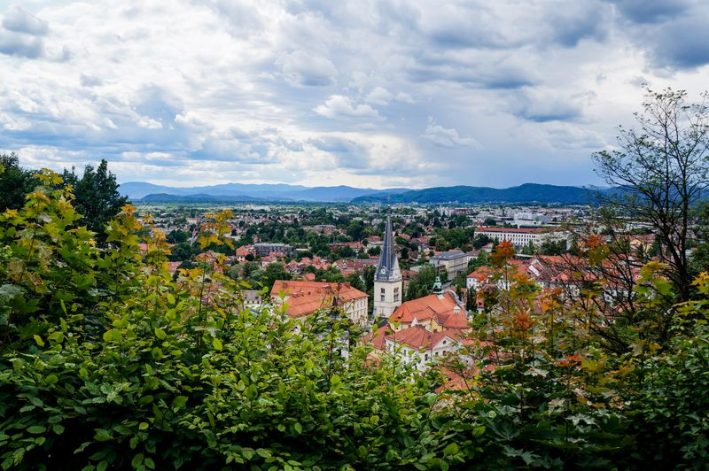 Looking down at Ljubljana from the castle