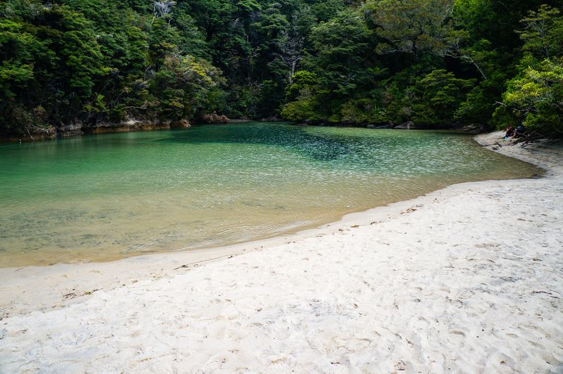 A secluded cove in the national park