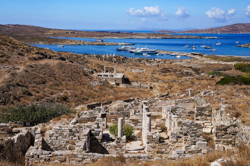 Looking over the ruins of Delos