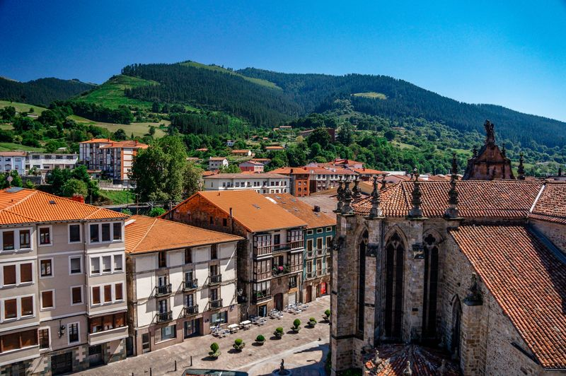 The beautiful town of Balmaseda