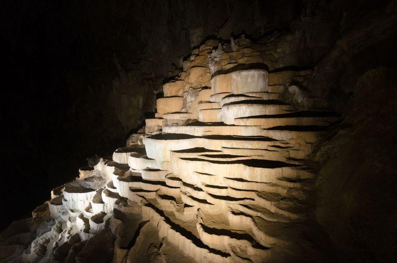 Travertine terraces in the Skocjan Caves