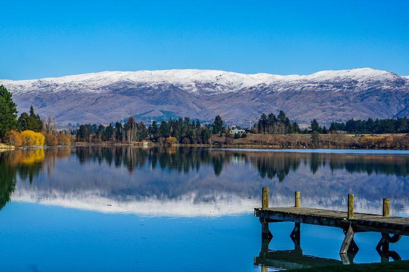 Lake Dunstan from Cromwell's historic precinct