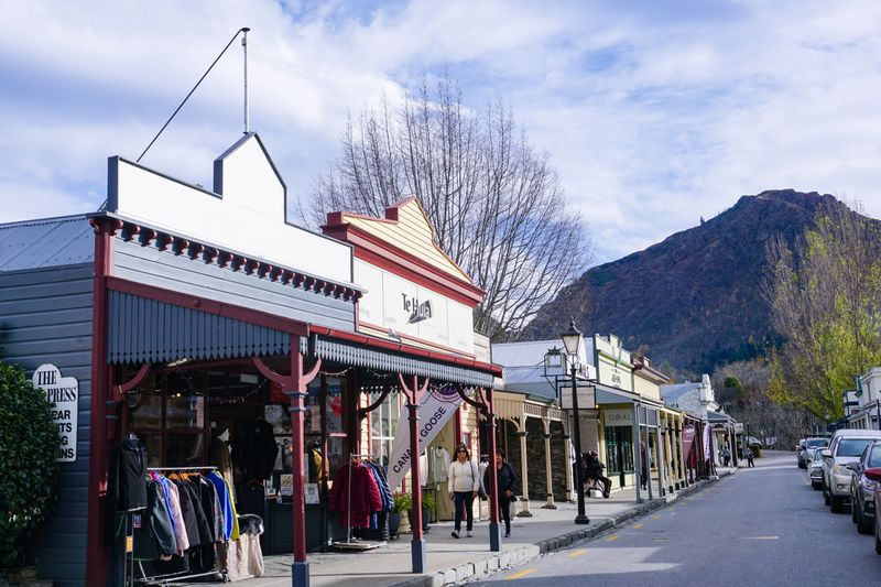 The main street of the historic town of Arrowtown