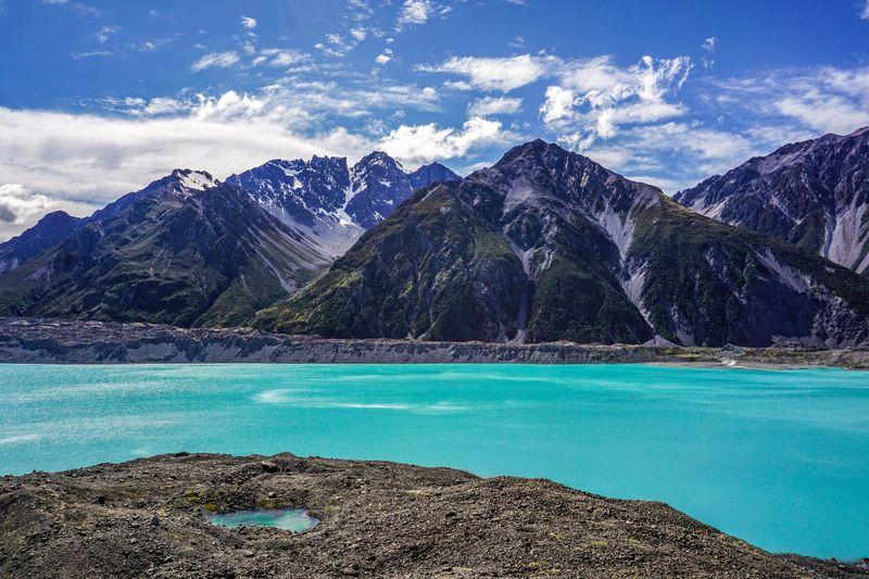 Tasman Glacier Lake in Mt Cook National Park