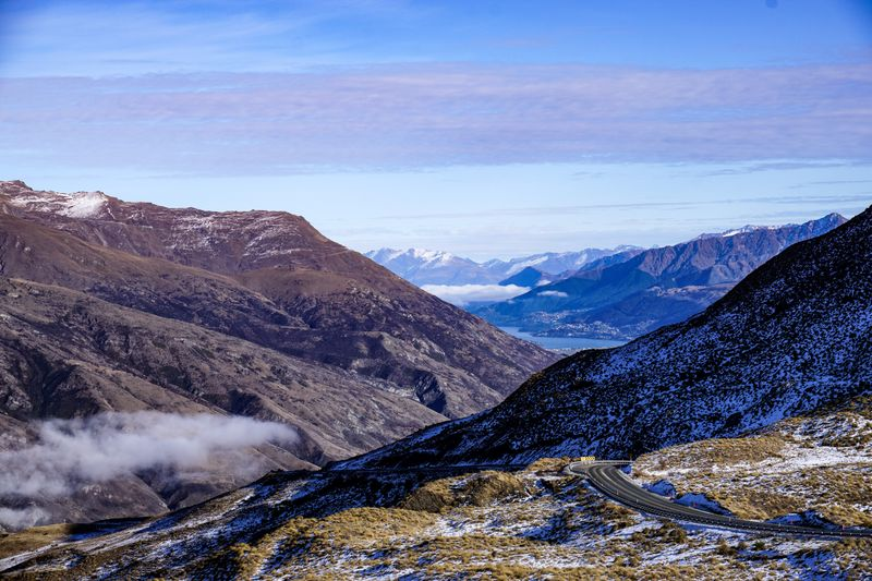Driving up Coronet Peak