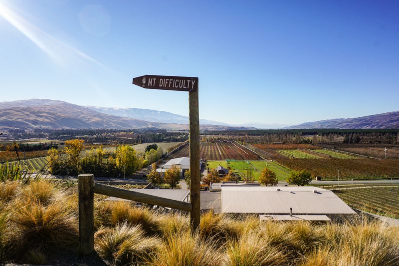 Mt Difficulty Winery in Cromwell, New Zealand