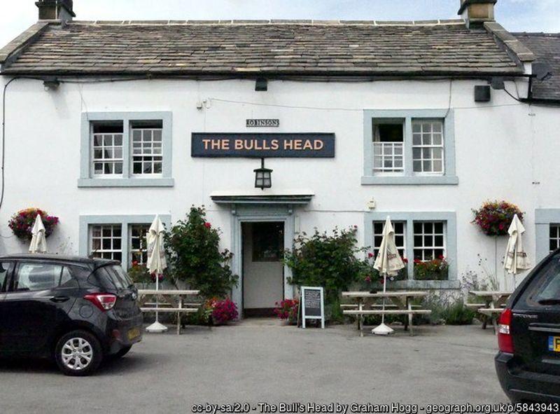 The Bulls Head pub in Ashford in the Water