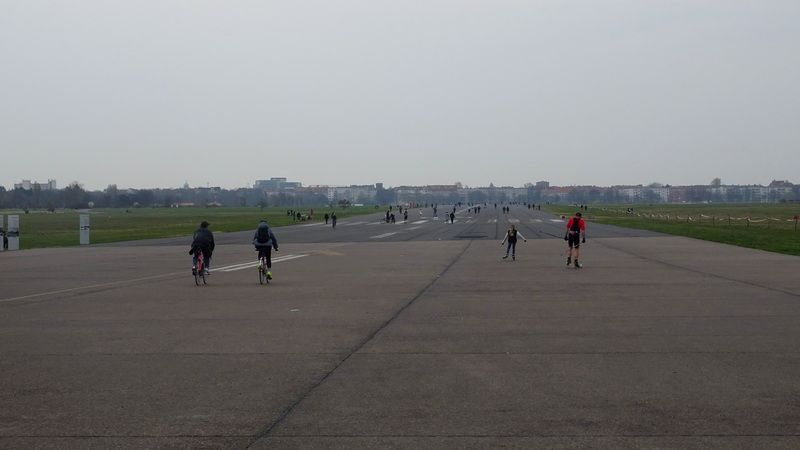 Tempelhof Field at the site of the former airport in Berlin, Germany