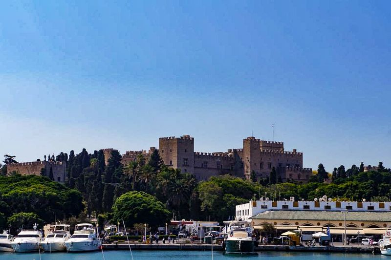The port at Rhodes
