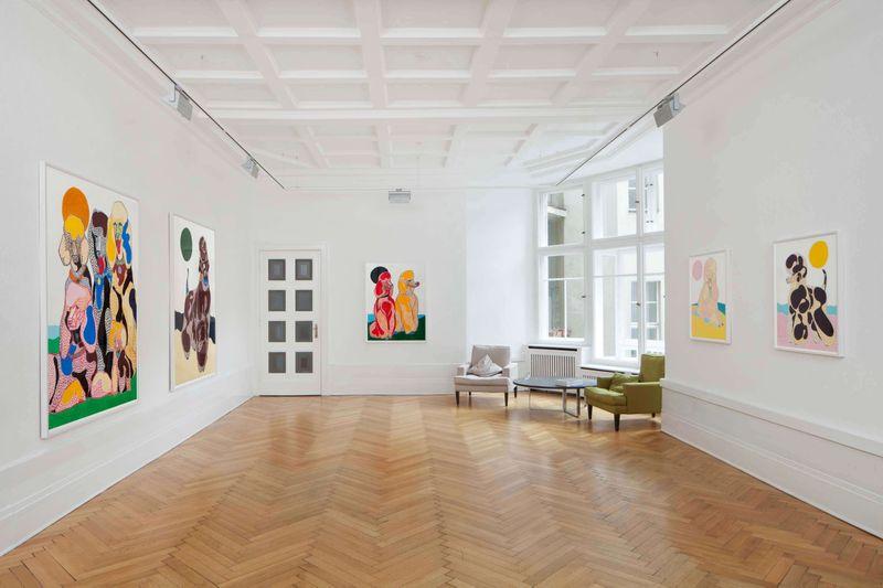 Installation shot of Susumu Kamijo works at Gnyp Gallery