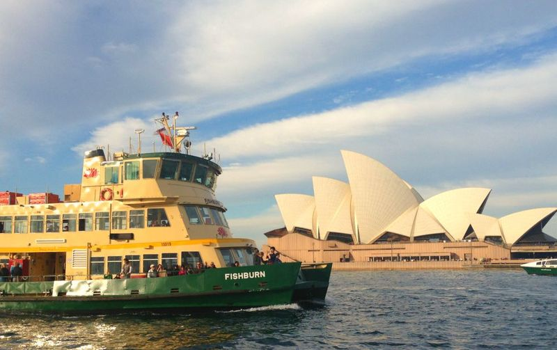 Fishburn ferry in front of Sydney Opera House