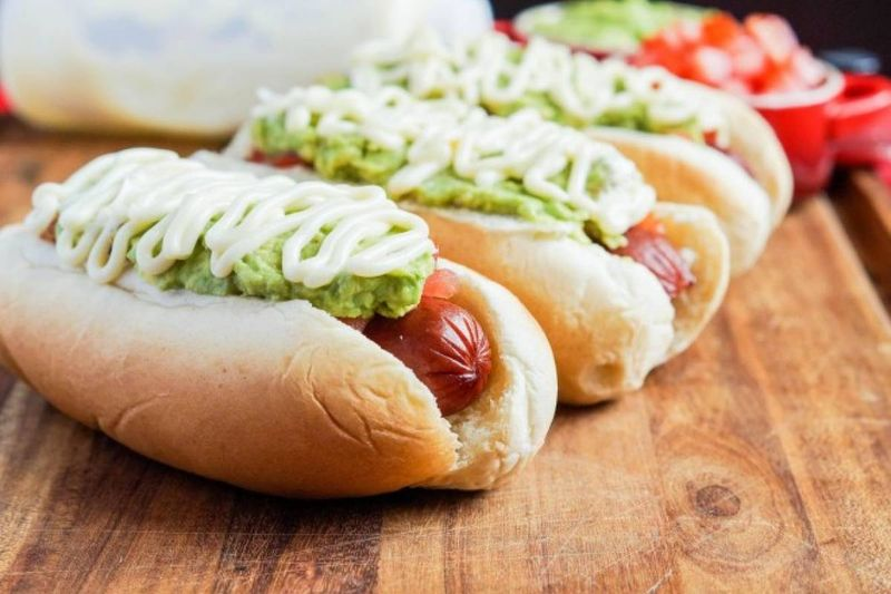 The completo, a traditional Chilean hot dog