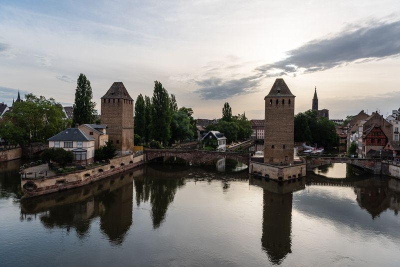 View from the Vauban Bridge overlooking Strasbourg