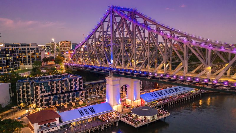 The Howard Smith Wharves and Story Bridge in Brisbane
