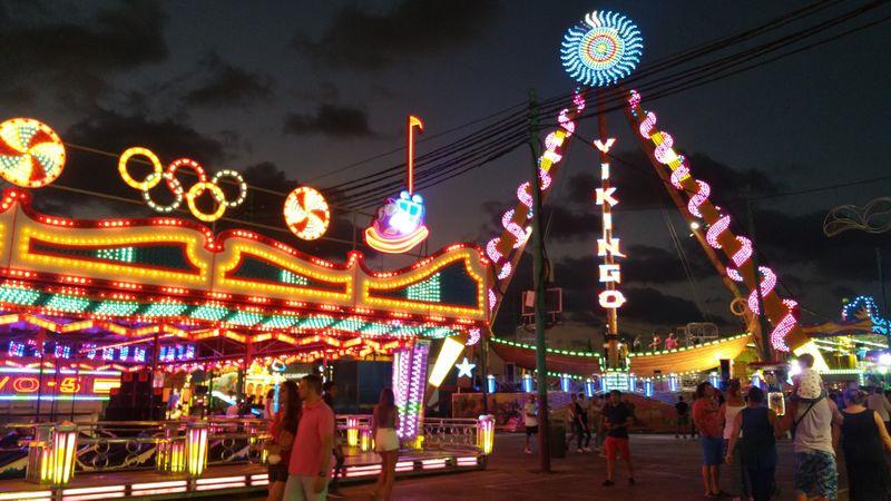 Bright lights at the Feria de Malaga