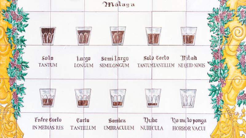 Names for coffee in Malaga
