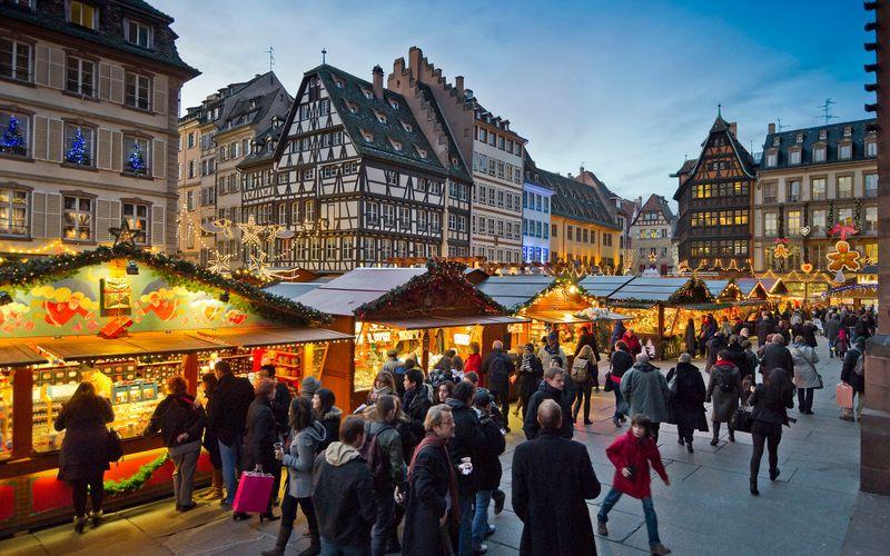 The Christmas market