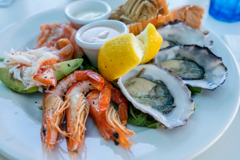 A plate of local seafood