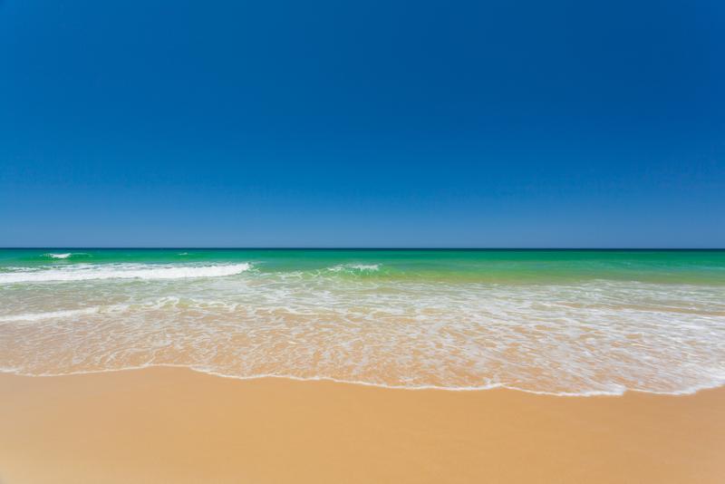 Beautiful beach in Australia on the Sunshine Coast.