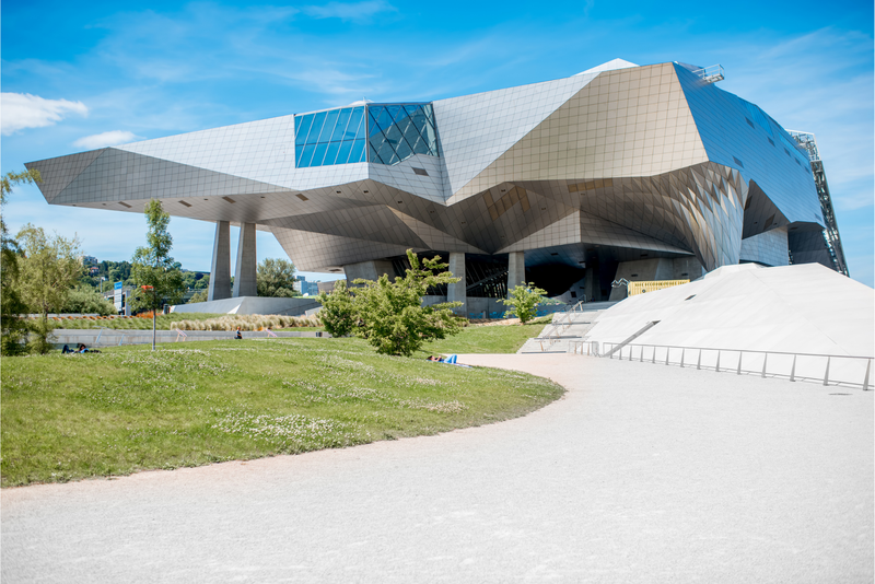 Musee des Confluences, a science and anthropology museum in Lyon, France