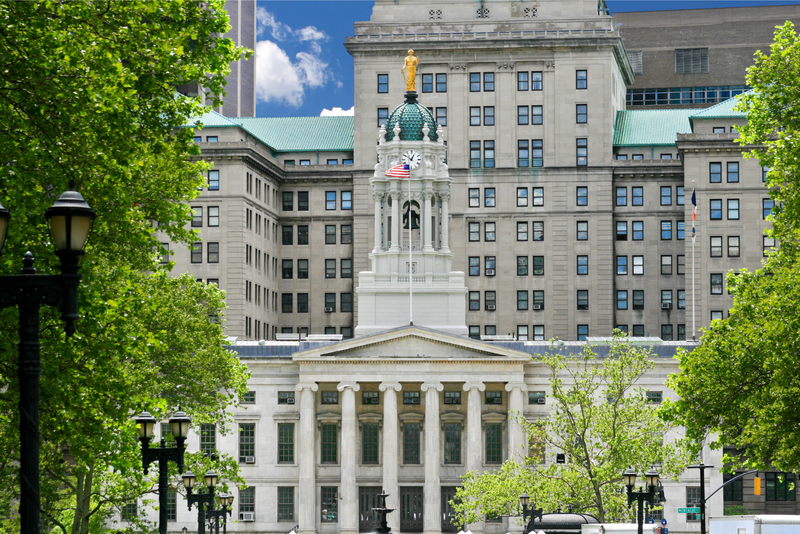 Government office buildings in Downtown Brooklyn, New York