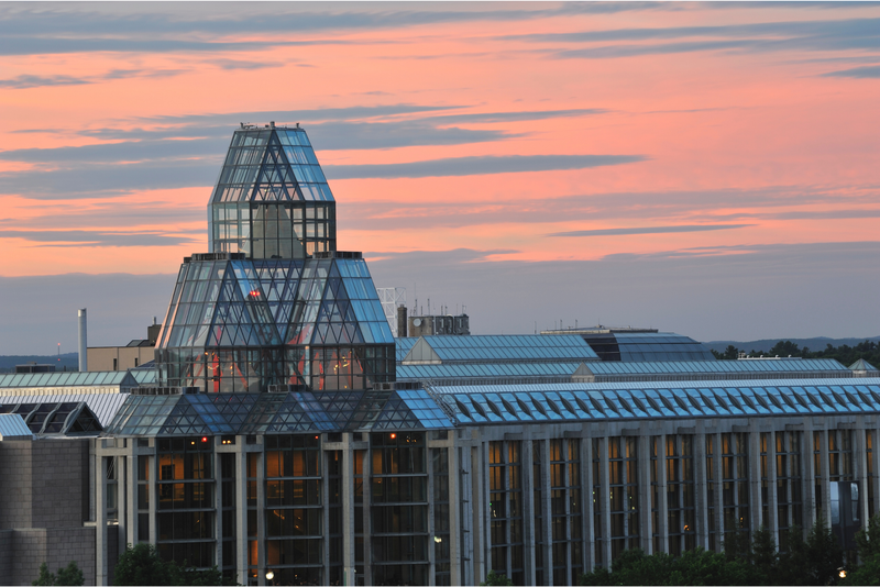 The National Gallery of Canada at sunset