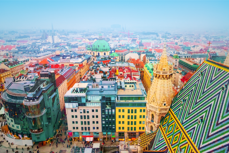 An aerial view of Vienna