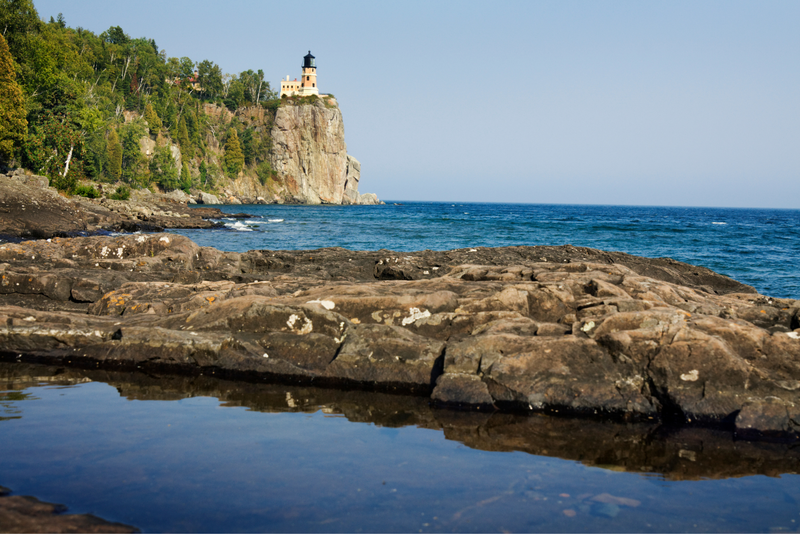 Split Rock Lighthouse on the north shore of Lake Superior in Minnesota