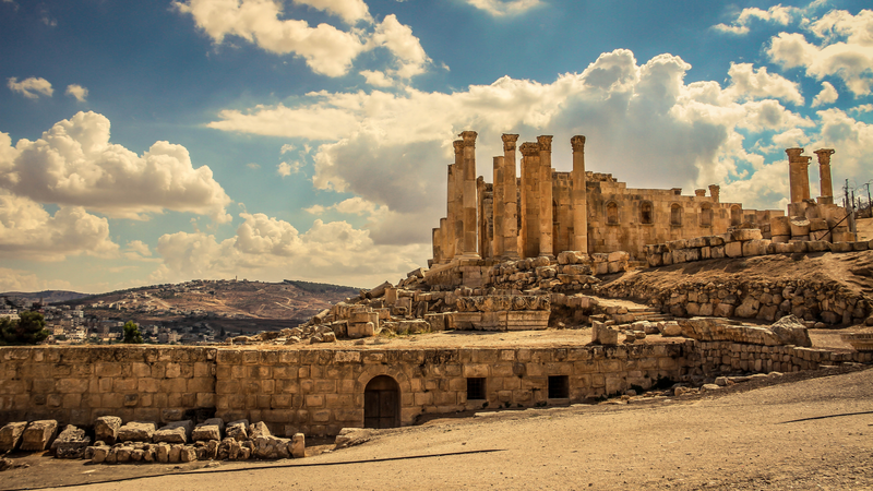 The sprawling ruins of Jerash in Jordan