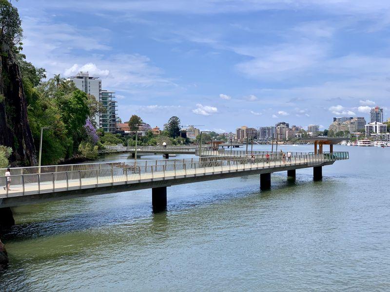 The New Farm river walk in Brisbane