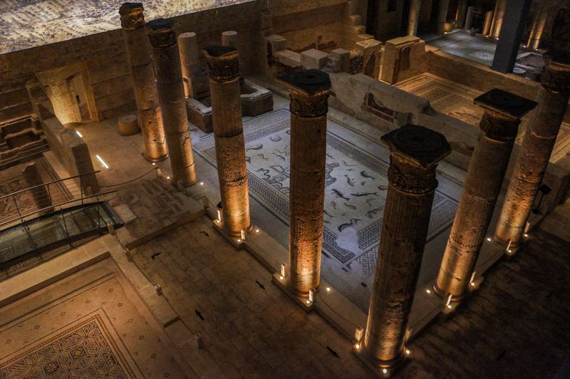 A view inside the Zeugma Mosaic Museum