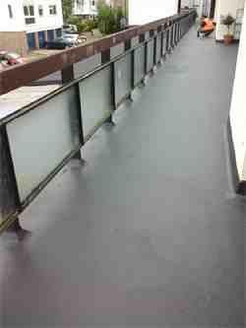 Liquid roof system Croydon 170 sq mtr Balconies Aldersbrook