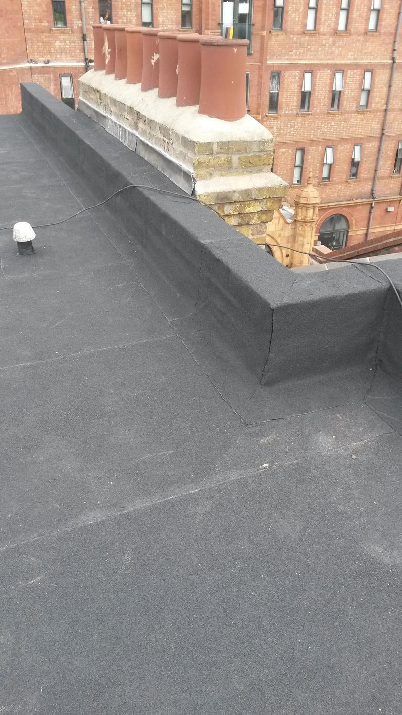 68sq mtr Refurbishment overlay Norde roof system Whitechapel