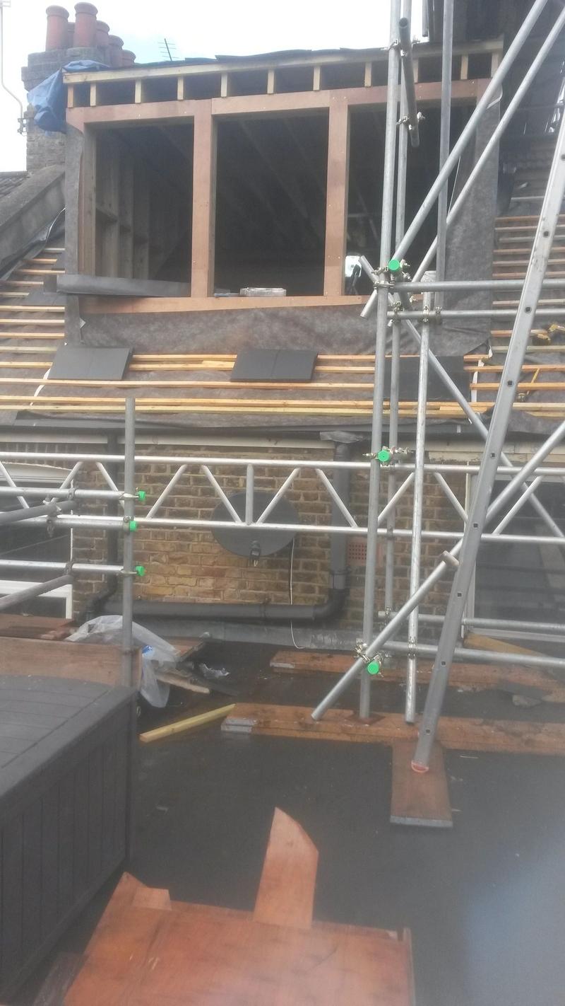 Slating man made slate in Kilburn NW6 55sq mtr