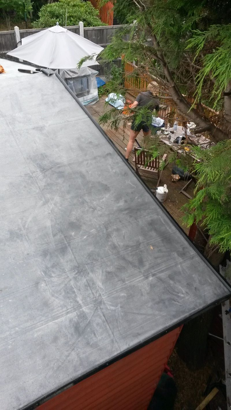 single ply epdm small out building
