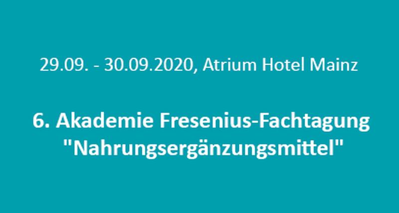 6. Akademie Fresenius-Fachtagung