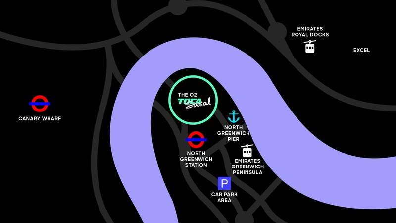 Location map for TOCA Social