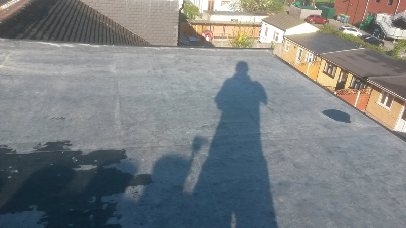 A typical domestic EPDM installation