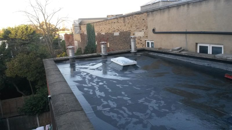 64 square metres Single Ply EPDM rubber seamless roof The Mosque Upton Lane London E7E