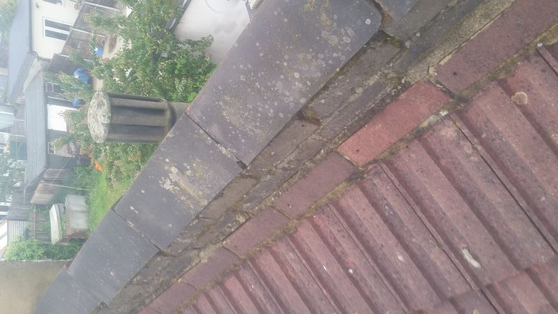 Parapet walls usually on closer inspection can look like this which can lead to water ingress