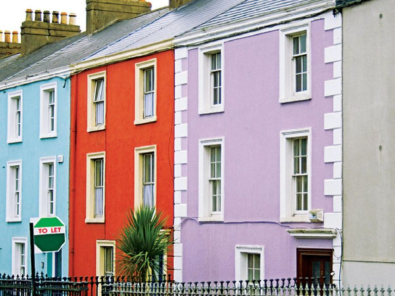 colorful painted houses
