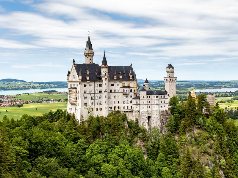 neuschwanstein castle in the southwest bavaria germany