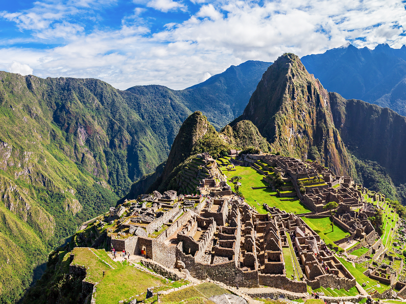 machu picchu surrounded by the andes mountains